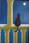 Cat and Moon by MacDonald